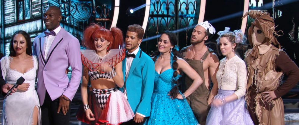 """PHOTO: The dancing teams joined forces to do one group dance on Halloween night on """"Dancing with the Stars,"""" Oct. 30, 2017."""
