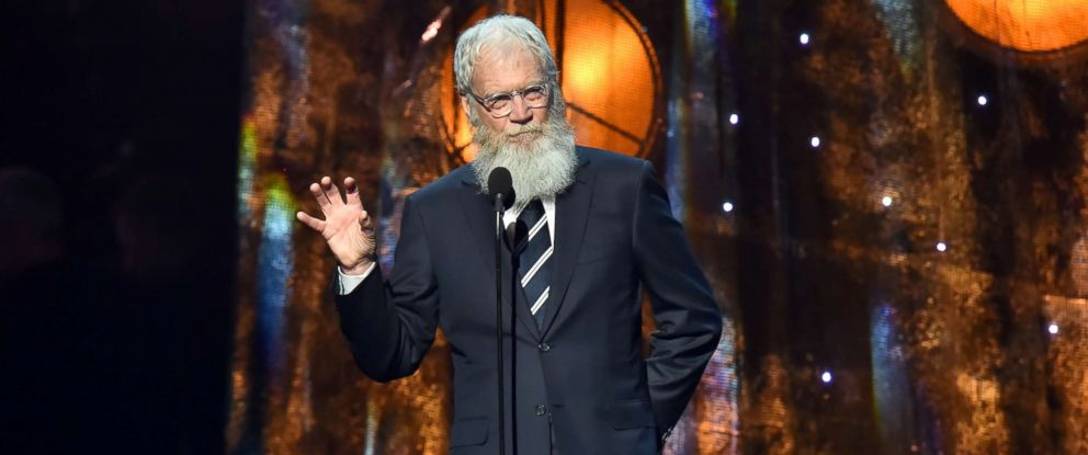 PHOTO: Comedian David Letterman speaks onstage at the 32nd Annual Rock & Roll Hall Of Fame Induction Ceremony at Barclays Center, April 7, 2017, in New York.