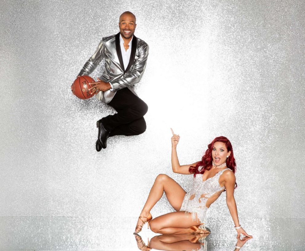 PHOTO: Derek Fisher and pro dancer Sharna Burgess will compete for the mirror ball title on the new season Dancing With The Stars.