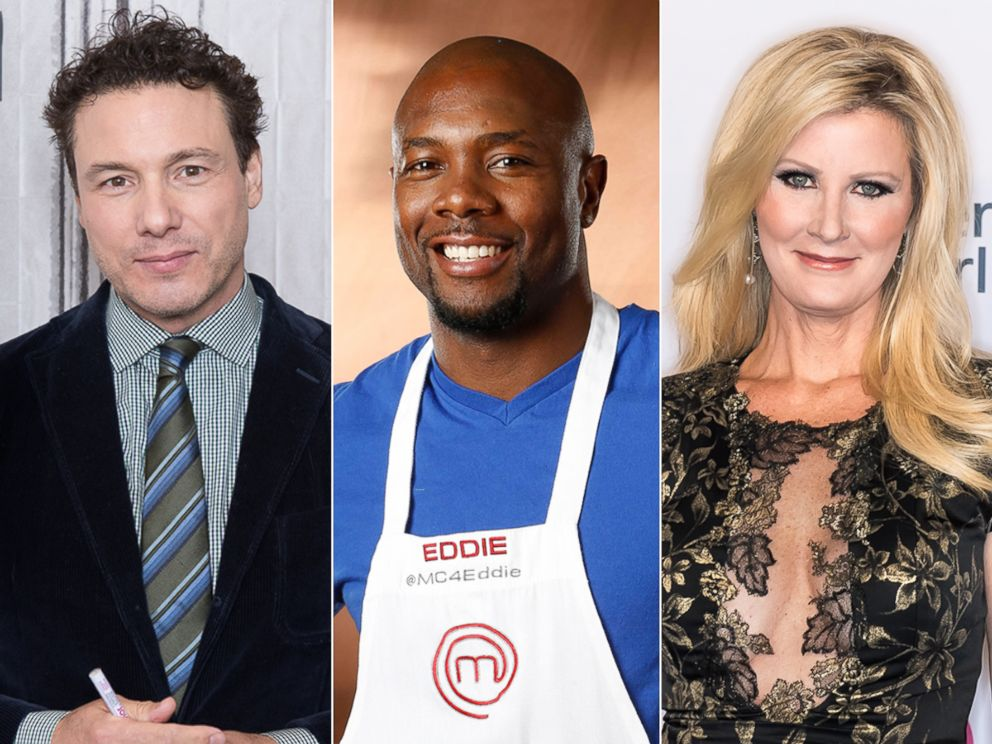 PHOTO: Rocco Dispirito at Build Studio, Oct. 13, 2017, in New York City | Portrait of Eddie Jackson from Season 4 of MasterChef, May 29, 2013 | Television chef and author Sandra Lee at Cathedral of St. John the Divine, Nov. 7, 2017, in New York City.