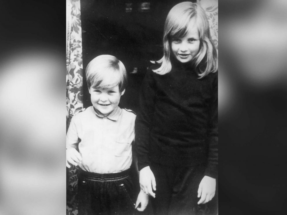 PHOTO: Lady Diana Spencer with her brother Charles (Earl Spencer) in Viscount Althorp, at their home in Berkshire, U.K., 1968.