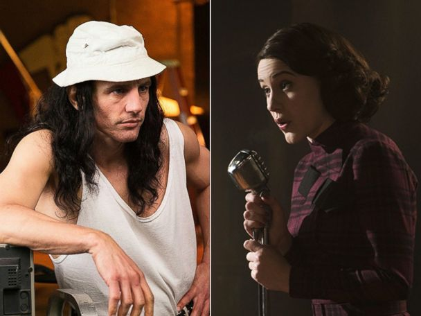 """'PHOTO: (L-R) James Franco in """"The Disaster Artist"""" and Rachel Brosnahan in """"The Marvelous Mrs. Maisel.""""' from the web at 'http://a.abcnews.com/images/Entertainment/disaster-artist-marvelous-mrs-maisels-2-ht-jt-180104_4x3_608.jpg'"""