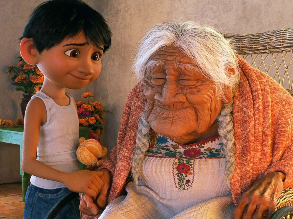 PHOTO: In Disney Pixars Coco, Miguel (voice of Anthony Gonzalez) has a very special relationship with his great-great-grandmother, Mama Coco (voice of Ana Ofelia Murguia).