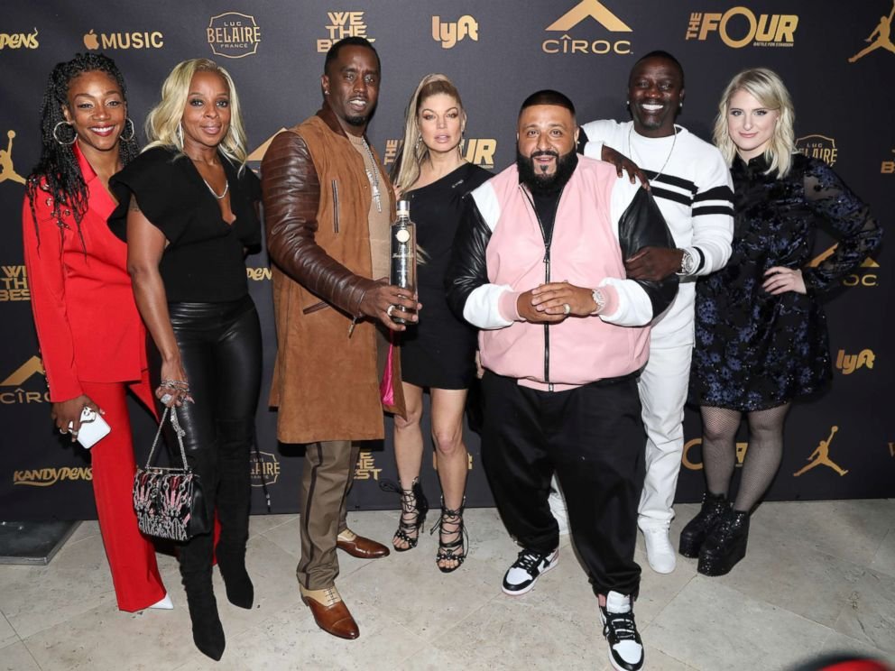 PHOTO: Tiffany Haddish, Mary J. Blige, Sean Diddy Combs, Fergie, DJ Khaled, Akon, and Meghan Trainor attend DJ Khaleds Birthday, Dece. 2, 2017, in Beverly Hills, Calif.