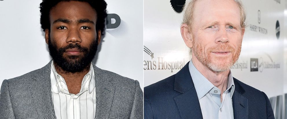 PHOTO: Actor Donald Glover attends the Vanity and FX Annual Primetime Emmy Nominations Party, on Sept. 17, 2016, in Beverly Hills, Calif. | Ron Howard attends UCLA Mattel Childrens Hospital presents Kaleidoscope 5, May 6, 2017, in Culver City, Calif.