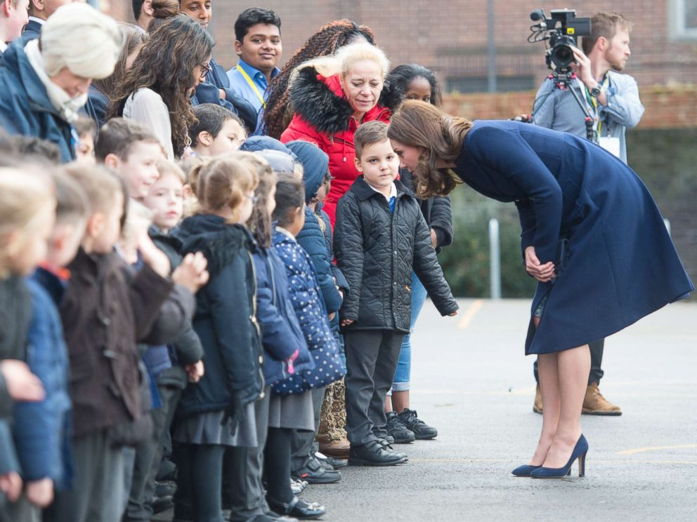 Duchess Kate attends public engagement and her baby bump is adorable