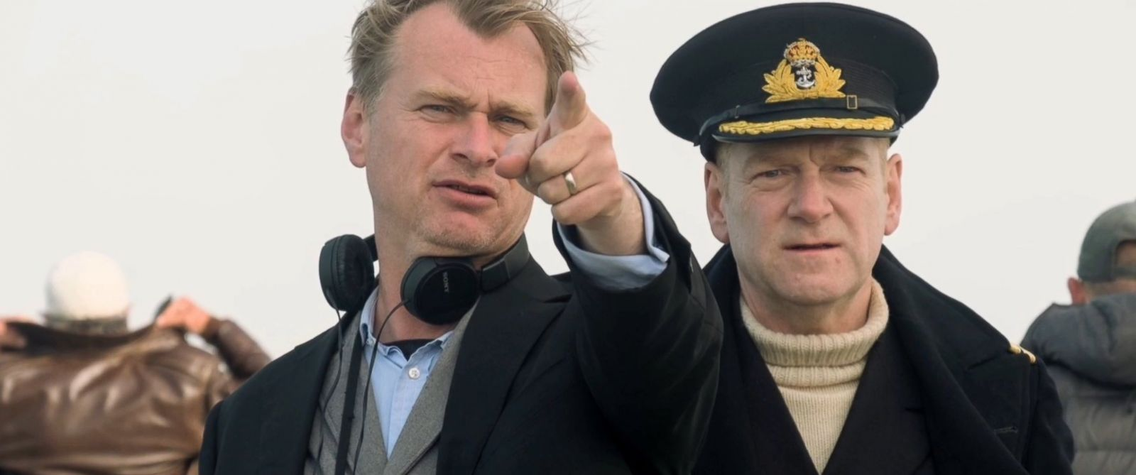 "PHOTO: Director Christopher Nolan and Kenneth Branagh on the set of ""Dunkirk,"" 2017."