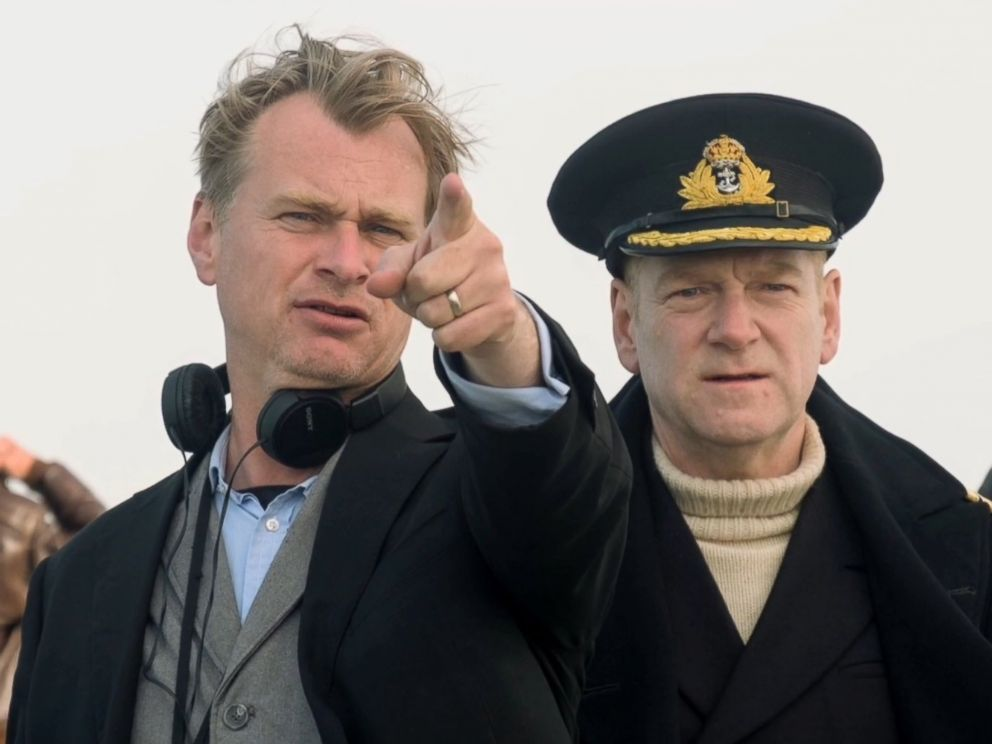 PHOTO: Director Christopher Nolan and Kenneth Branagh on the set of Dunkirk, 2017.