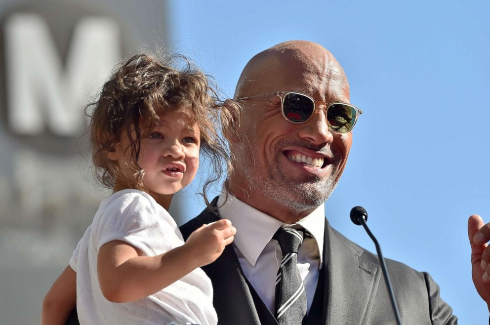 PHOTO: Dwayne Johnson and her daughter Jasmine Johnson attend the ceremony in honor of Dwayne Johnson with the star on the Hollywood Walk of Fame, on December 13, 2017 in Hollywood, California
