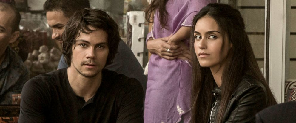 "PHOTO: Dylan OBrien and Shiva Negar in a scene from ""American Assassin."""
