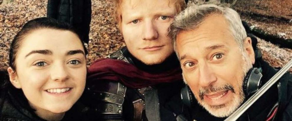 "PHOTO: Ed Sheeran posted this photo to his Instagram account, July 17, 2017, from the ""Game of Thrones"" set."