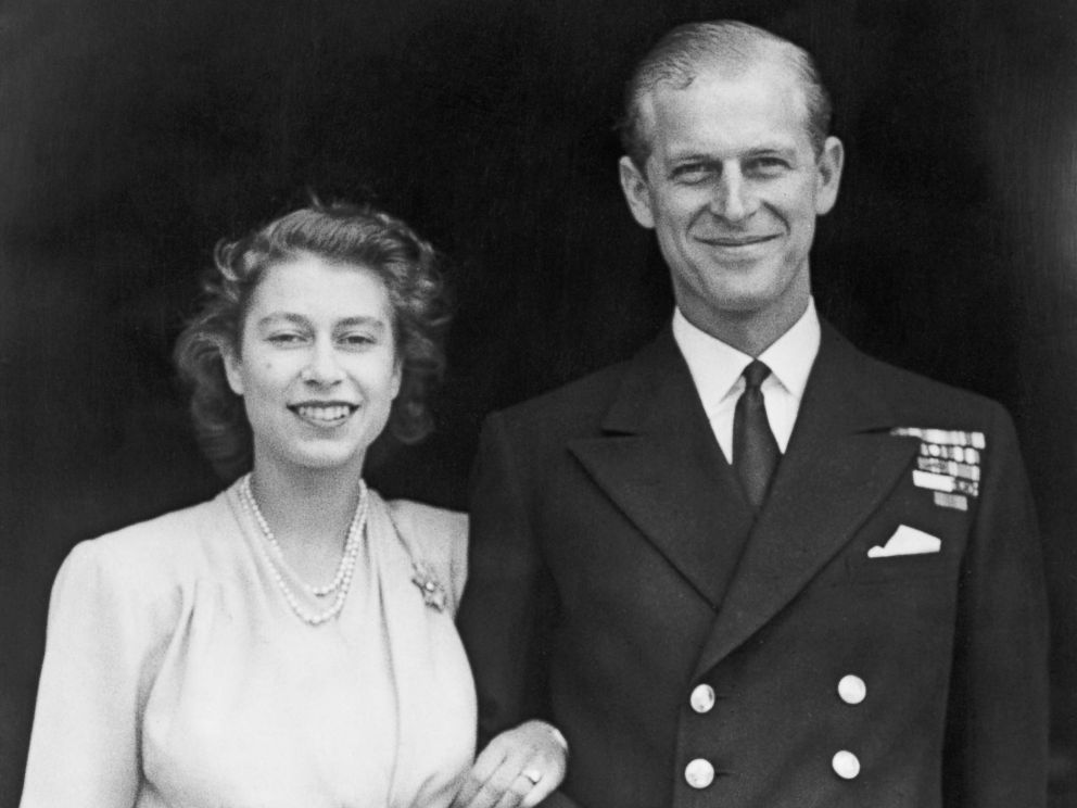 PHOTO: Princess Elizabeth and Prince Philip, Duke of Edinburgh at Buckingham Palace, London shortly after they announced their engagement, July 11, 1947.