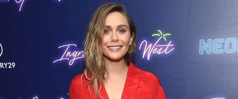 """PHOTO: Elizabeth Olsen attends the premiere of """"Ingrid Goes West,"""" hosted by Neon and The Cinema Society at the Alamo Drafthouse, Aug. 8, 2017, in New York."""