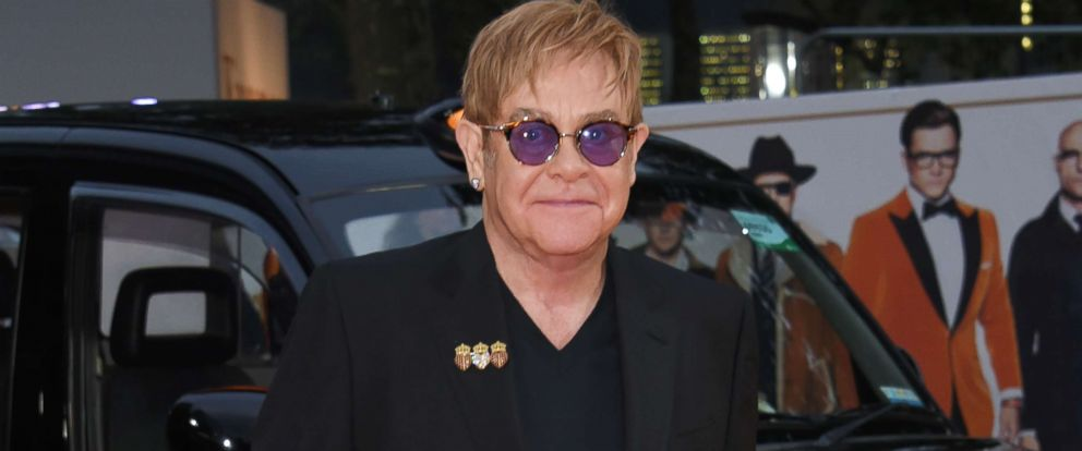 """PHOTO: Sir Elton John attends the World Premiere of """"Kingsman: The Golden Circle"""" at Odeon Leicester Square, Sept. 18, 2017, in London."""