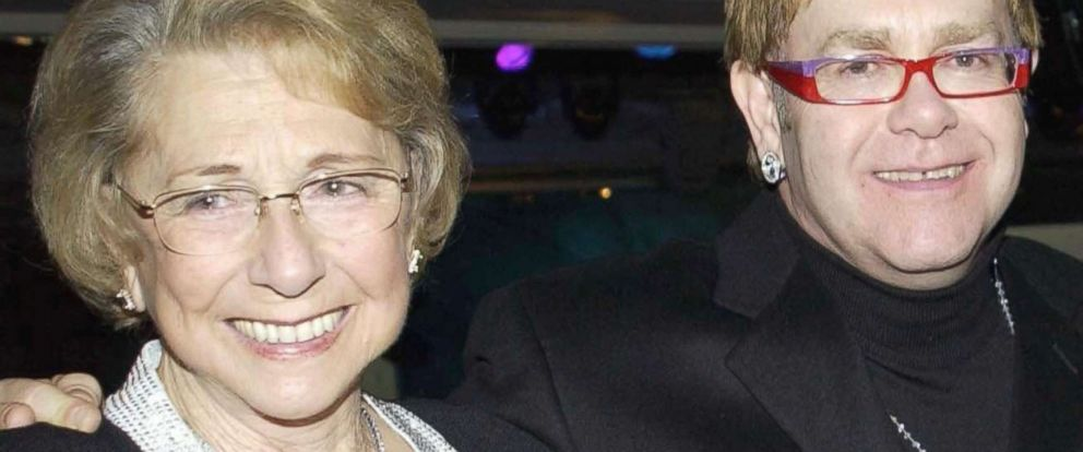 PHOTO: Elton John with his mother Sheila Eileen Dwight in London, Nov. 4, 2002.