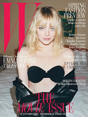 Emma Stone Strips Down for 'W'