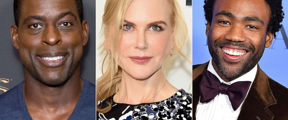 """PHOTO: Emmy nominees Sterling K. Brown from """"This Is Us,"""" Nicole Kidman from """"Big Little Lies,"""" and Donald Glover from """"Atlanta."""""""