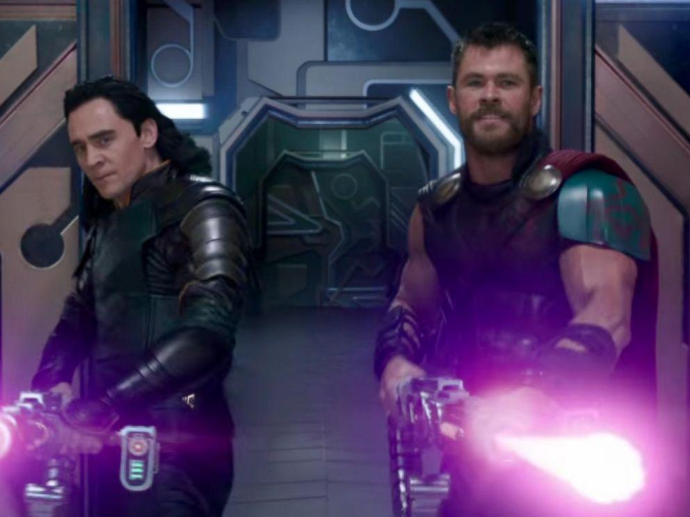 PHOTO: Tom Hiddleston and Chris Hemsworth in a scene from Thor: Ragnarok.