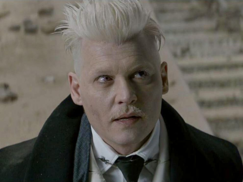 PHOTO: Johnny Depp, as Gellert Grindewald, in a scene from Fantastic Beasts and Where to Find Them.