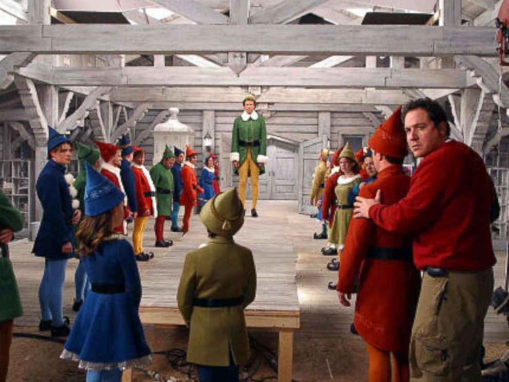 PHOTO: Will Ferrell, Jon Favreau, and Joe MacLeod in Elf, 2003.