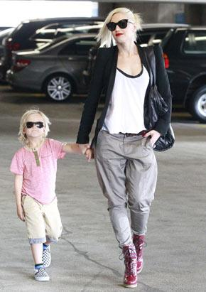 Gwen Stefani and Zuma Stay in the Shades
