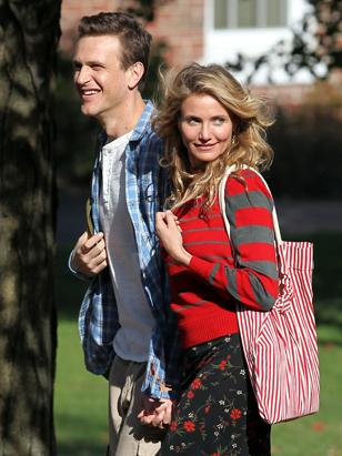 "Jason Segel and Cameron Diaz Film ""Sex Tape"""