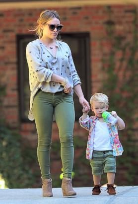 Hilary and Her Adorable Son Luca