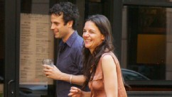 PHOTO: Co-stars Katie Holmes and Luke Kirby head out for dinner after filming their upcoming movie