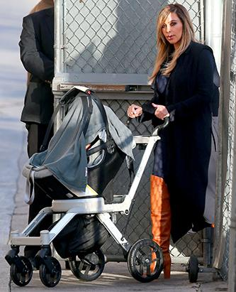 Kim Kardashian Takes Baby North On A Stroll