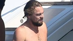Leonardo DiCaprio Kicks Back on a Yacht