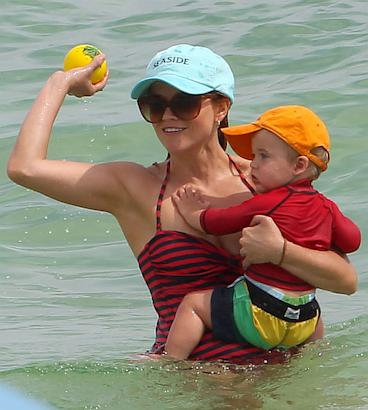 Reese Witherspoon Spends Time At The Beach With Children