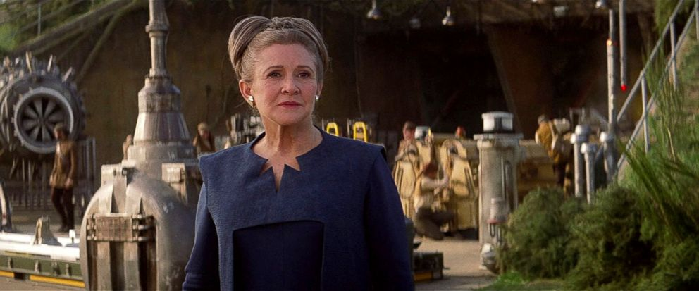 PHOTO: Carrie Fisher, as Leia Organa, in a scene from Star Wars: The Force Awakens.