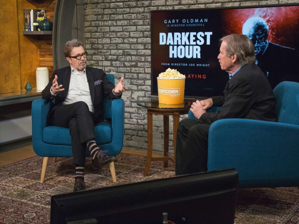 PHOTO: Gary Oldman appears on Popcorn with Peter Travers at ABC News studios, Nov. 15, 2017, in New York City.
