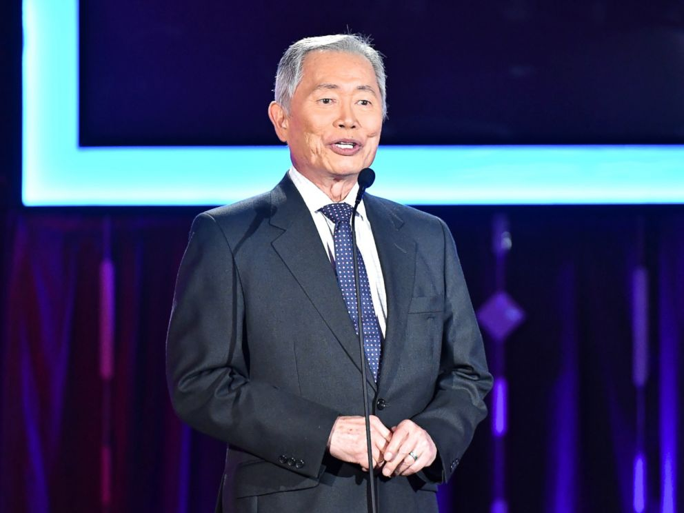 PHOTO: Presenter George Takei speaks onstage at AARPs 16th Annual Movies For Grownups Awards at the Beverly Wilshire Four Seasons Hotel, Feb. 6, 2017 in Beverly Hills, Calif.