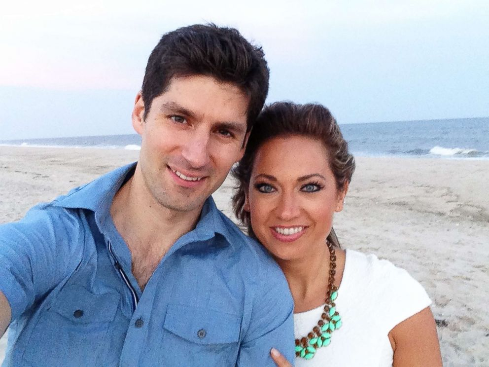 PHOTO: ABC News chief meteorologist Ginger Zee is photographed here with her husband, Ben Aaron, in this undated family photo.