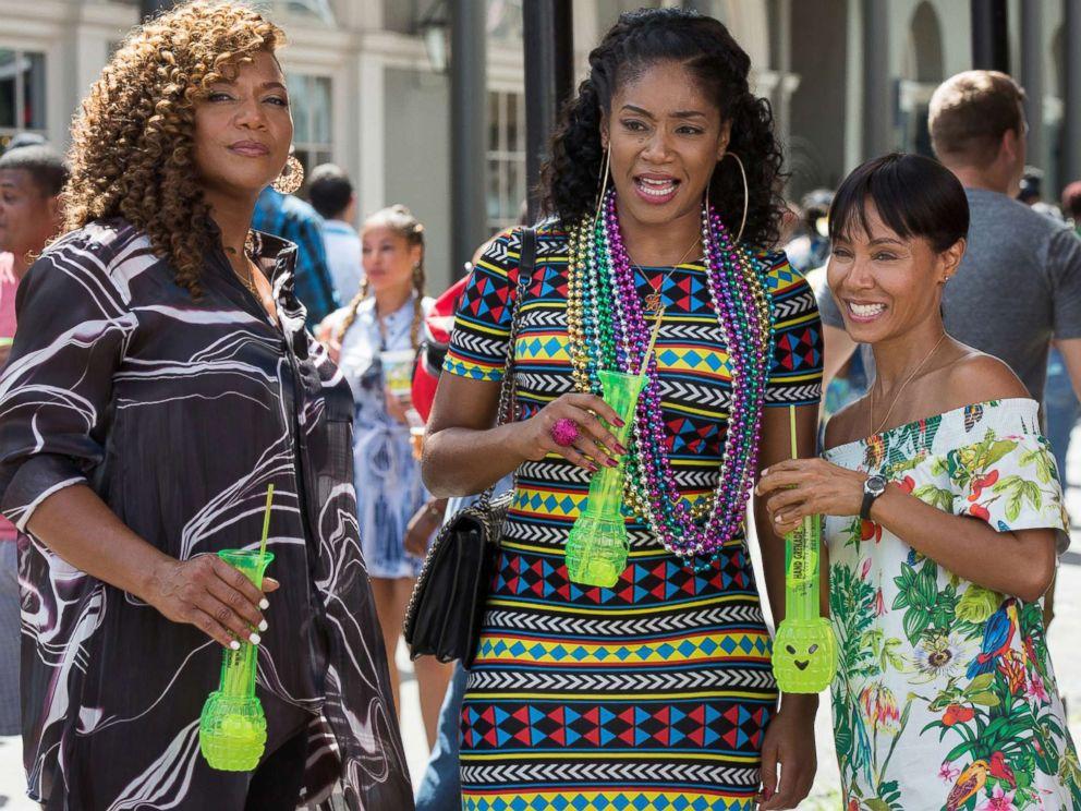 PHOTO: Queen Latifah, Tiffany Haddish and Jada Pinkett Smith star in the 2017 film, Girls Trip.