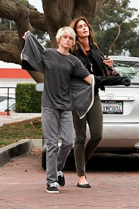 Cindy Crawford and Her Son Run Errands.