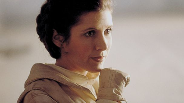 PHOTO: Actress Carrie Fisher is pictured on the set of