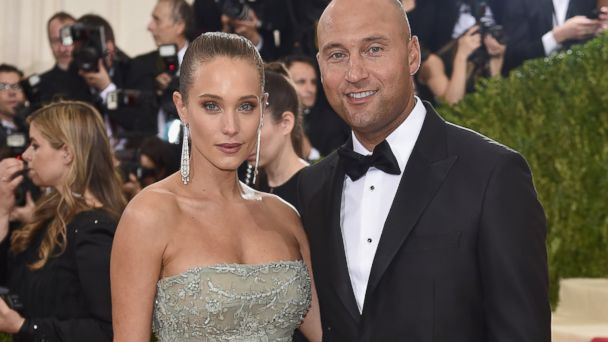 PHOTO: Hannah Davis and Derek Jeter attend the 'Manus x Machina: Fashion In An Age Of Technology' Costume Institute Gala at Metropolitan Museum of Art on May 2, 2016 in New York.