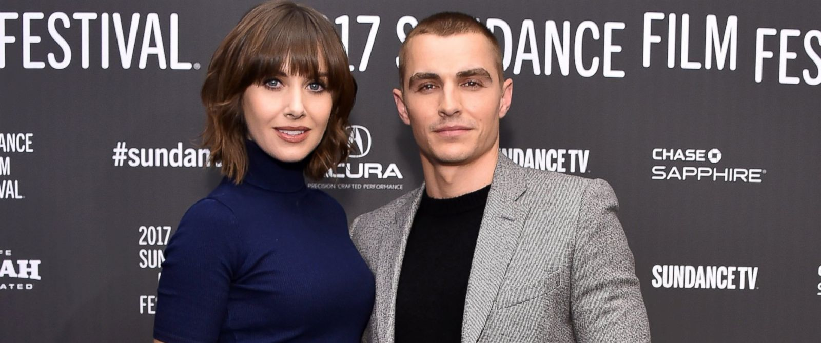 """PHOTO: Alison Brie and Dave Franco attend """"The Little Hours"""" premiere during day 1 of the 2017 Sundance Film Festival, Jan. 19, 2017, in Park City, UT."""