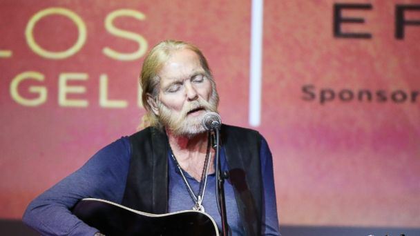 PHOTO: Gregg Allman performs onstage at the Grammy Foundation host celebrating Gregg Allman: Storytelling and performances held at Skirball Cultural Center on Sept. 24, 2015 in Los Angeles, Calif.