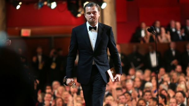 PHOTO: Leonardo DiCaprio accepts the Best Performance by an Actor in a Leading Role award for