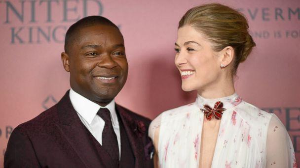 PHOTO: David Oyelowo and Rosamund Pike attend the