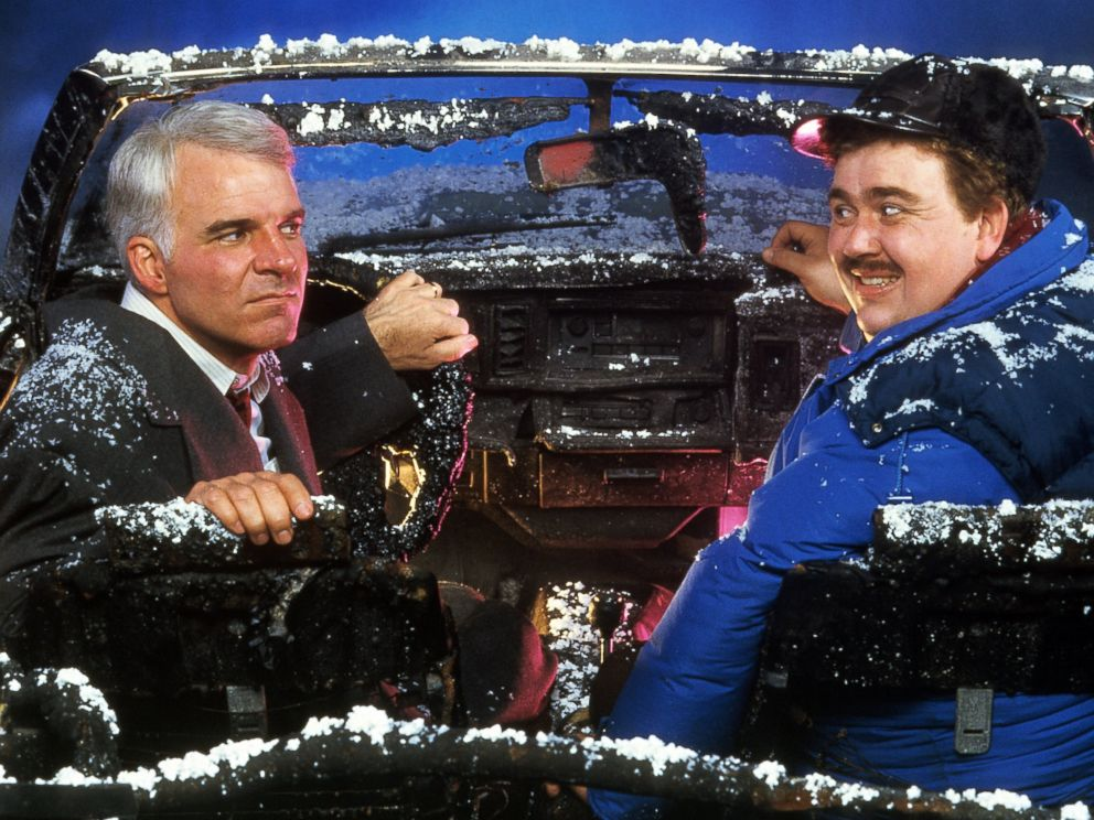 Thanksgiving Movies to Watch if You     re Sick of Football   ABC News ABC News   Go com PHOTO  Steve Martin and John Candy sit in a destroyed car in a scene from
