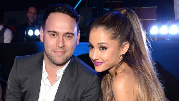 PHOTO: Scooter Braun and Ariana Grande attend the 2014 MTV Video Music Awards at The Forum, Aug. 24, 2014 in Inglewood, Calif.
