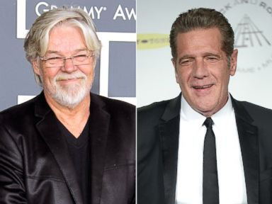 PHOTO: Bob Seger arrives at The 54th Annual GRAMMY Awards on Feb. 12, 2012 in Los Angeles. Glenn Frey attends the 29th Annual Rock And Roll Hall Of Fame Induction Ceremony on April 10, 2014 in New York.