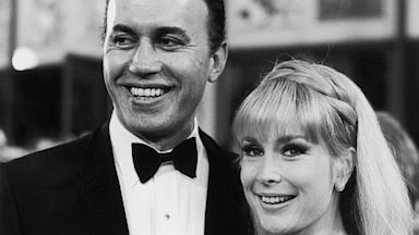 PHOTO: Married American actors Michael Ansara and Barbara Eden at the premiere of director Basil Deardons film Khartoum in June, 1966. Ansara died on July 31, 2013 after a long illness at the age of 91.