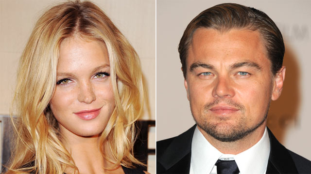 PHOTO: Erin Heatherton and Leonardo DiCaprio are pictured.