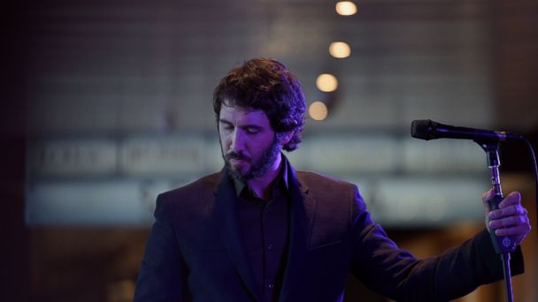 """PHOTO: Josh Groban performs songs from his album """"Stages"""" at The Shops at Columbus Circle on April 28, 2015 in New York."""