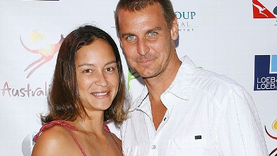 PHOTO: Ingo Rademacher and wife, Ehiku Rademacher arrive to the Australian's In Film, Sept. 19, 2009 in Brentwood, California.